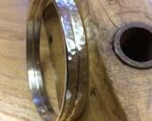 Reserved for Randi                                 2 Sterling Silver, hammered, bangle bracelets