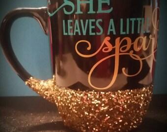 Adorable Custom Sparkle Glitter Coffee Mug
