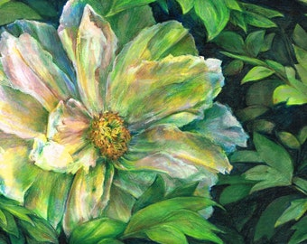 Innocence - original floral drawing artwork