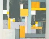 """Wood Mosaic Painting - """"Hazy Sunshine"""""""