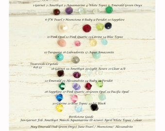 Add Small Gemstones to any Necklace or Bracelet... Not for Separate Sale... add on only