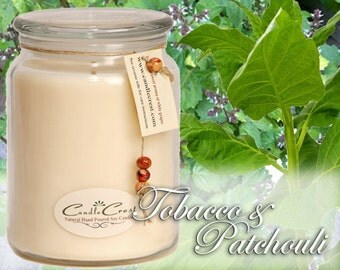 Tobacco Patchouli Soy Candles - Handmade Scented Soy Candles