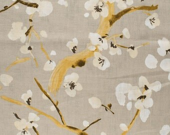 Pair of Custom Curtains or Drapes, 50 x 84 inches at this price, any size available, P/Kaufmann Blossom Festival Pewter
