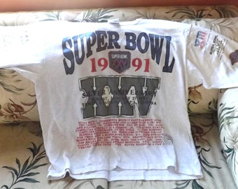 T Shirt tee shirt, 1991 Super Bowl Long Gone XL made in USA, football