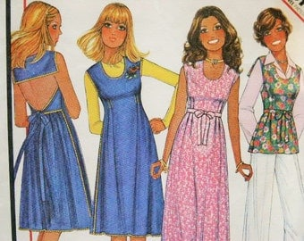 Vintage McCall's Bare Back Dress or Top or Jumper 5527 Sewing Pattern Size 10 - 12 Bust 32 1/2 - 34
