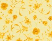 Cape Cod 120-3682 Tonal Flowers Yellow by Paintbrush Studio/Coral/Ocean/Beach- Fabric by the Fat Quarter/Half Yard/Yard - PRICE VARIES