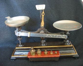 Henry Troemner 4 Oz. No. 6 Balance Scale w/Weights.