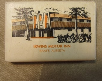 Vintage 1950's Complimentary Soap Advertising Irwins Motor Inn Banff, Alberta