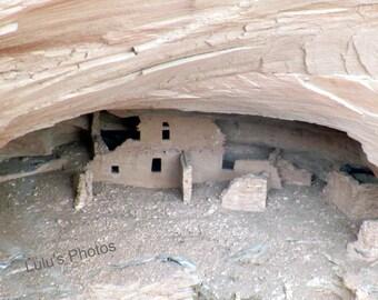 Ancient Anasazi Indian Dwellings, Arizona Landscape Photography, Personalized Cards and Prints