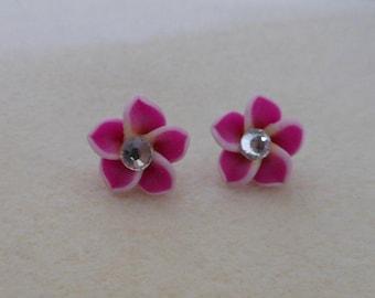 Hawaiian Plumeria Flower Earrings/pierced plumeria flower earrings/womens plumeria flower earrings/teens plumeria flower earrings/girls earr
