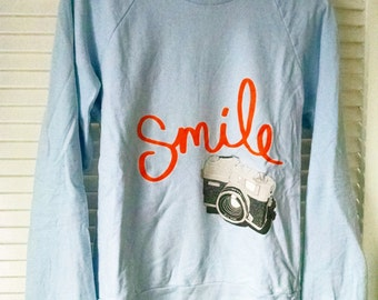 Smile Camera Sweatshirt in Blue