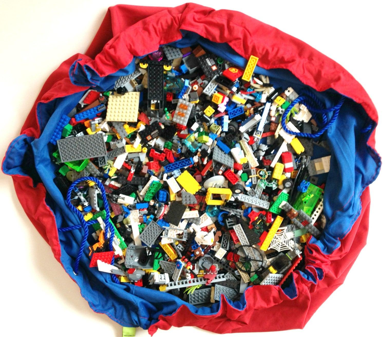 lego bag play mat lego storage toy storage bag easy for. Black Bedroom Furniture Sets. Home Design Ideas