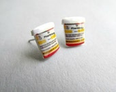 Nurse Prescription Pill Bottle Stud Earrings Nurse, Doctor earrings, RN earrings, MA Earrings, Pharmacy Stud earrings