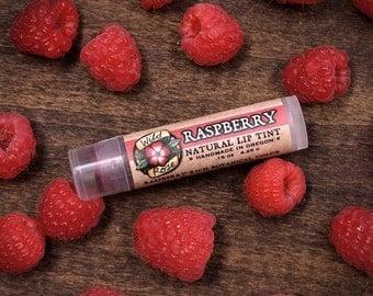 Natural Lip Tint Red RASPBERRY Organic Makeup - Mica Free .15 oz stocking stuffer