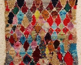"boucherouite  FREE SHIPPING worlwide T25558 190 X 120 CM (6'2"" X 3' 11""), boucharouette,  moroccan rugs , berber rugs, morocco carpets"