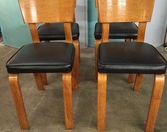 1950s Mid Century Modern Thonet Bentwood Plywood Dining Chairs