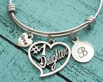 daughter birthday gift, daughter bracelet, graduation gift for daughter, love gift, daughter wedding gift, #1 daughter gift daughter jewelry