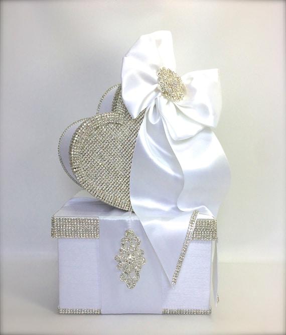 Wedding Card Box Brides Rhinestone Card Holder Card Box Custom Card ...