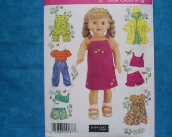 simplicity 4654 for 18 inch doll clothes.
