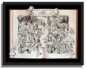 Alice in Wonderland - 12x16x3 Book Sculpture - Shadowbox Framed FREE SHIPPING
