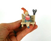 Look What I Made For You!Sculpture,Miniature,Dolls,Ceramic,caketoppers