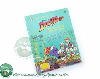 Vintage 1980s DuckTales book The Secret City Under the Sea