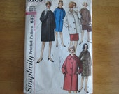 Simplicity Pattern 5103  Coat in Two Lengths   1960's