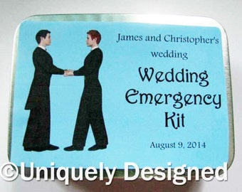 Gay wedding emergency kits for Grooms