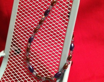 Hemalyke & Crystal: Delicate Handmade Bracelet Featuring Hemalyke and Swarovski Crystals