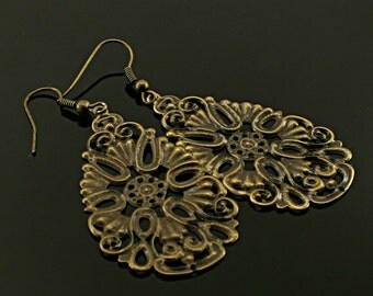 Antique bronze Beautiful  earrings