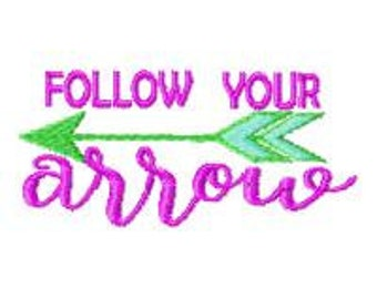 follow your arrow MACHINE EMBROIDERY DESIGN, summer embroidery,unique design, fits 5X7 hoops