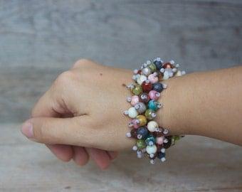 Colorful Handwoven Bracelet - Boho Bracelet - Beaded  Bracelet - Fashion jewelry - Bohemian jewelry - Boho fashion -Unique Bracelets