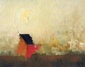 Marsh End — Original Oil Painting, Landscape Painting, Abstract Landscape, Original Painting, Abstract Oil Painting, Fine Art, 5 x 7