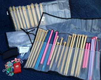 Knitting Needles Lot Huge Lifetime Knitters Bamboo Metal Plastic Accessories Counter Must See by AntiquesandVaria