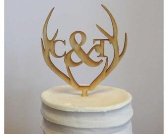 Deer Antler Cake Topper - Baskerville