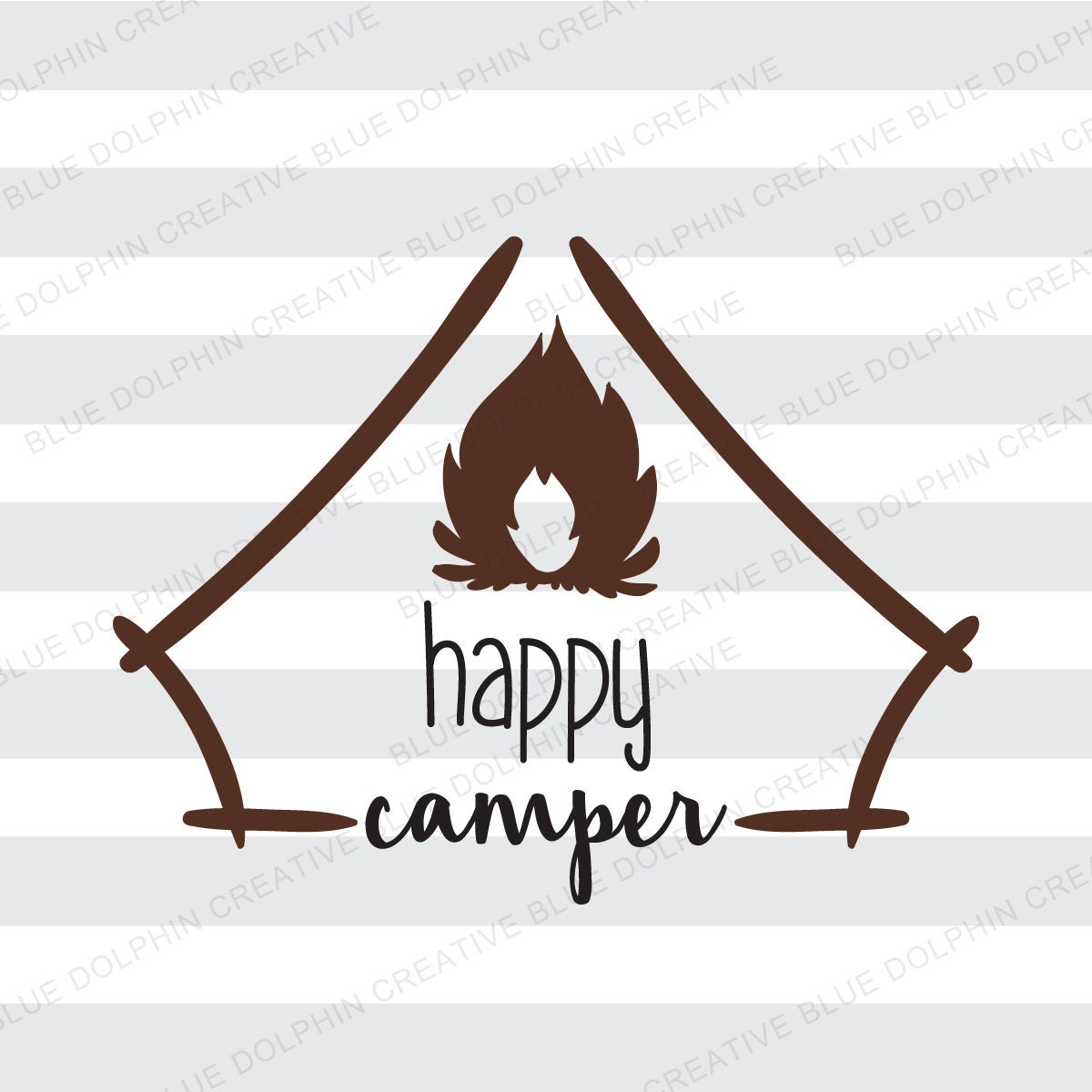 Happy Camper SVG pdf png / Cricut Silhouette cutting files