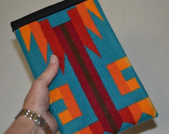 WOOL Rio Rancho Turquoise iPad mini 1 2 3 4 slip Sleeve cover - mini won't slip out - protective mini sleeve wool from Portland Native