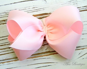 Light Pink Boutique Hair Bow - Extra Large Light Pink Hair Bow - Extra Large Boutique Bow - Extra Large Light Pink Bow