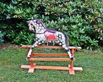 Vintage Rocking Horse, Beautiful Rocker, Nursery Size For 3 years +Interior DesignSALE + FREE UK Shipping, 250.00 dollars off, now 645.00