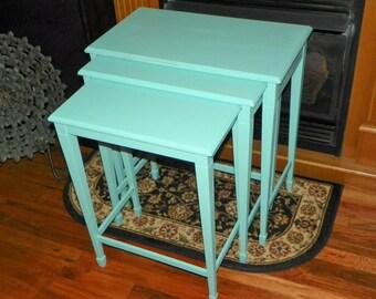 Vintage 1960's Set of Three Nesting Tables
