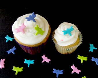 Tiny Dragonfly Fondant Decorations for Cake Pops, Mini Cakes, Cookies, Cupcakes, Cakes or Brownies