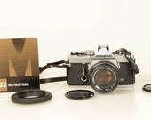 Olympus OM-1 35mm Film Camera Outfit with 50mm and FREE OM 28mm Wide Angle Lens! Film Tested