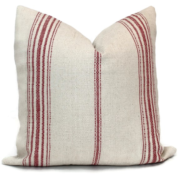 Decorative Pillow Cover French Grain Sack Pillow By Popocolor