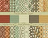 Patterned Digital Paper Scrapbooking Backgrounds Printable Photo Resources - 25 designs - 12 x 12 - 300 dpi - jpg - KEEP MEMORIES