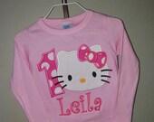 Custom Kitty Birthday Shirt