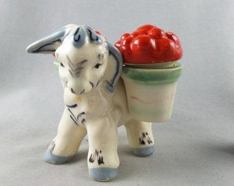 Vintage Donkey Ceramic Salt and Pepper Shaker Set Made in Japan