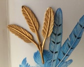 Vintage Wing Feathers  (1 pc)