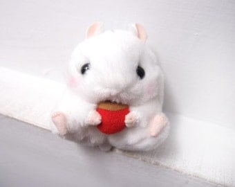 Cute white hamster soft toy