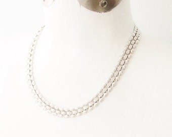 Vintage Monet Silver Chain Link Necklace