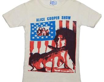 Alice Cooper Shirt Vintage tshirt 1970s Seasons Greetings Xmas tee Original 70s Metal Christmas